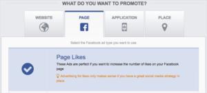 capture d'écran campagnes facebook