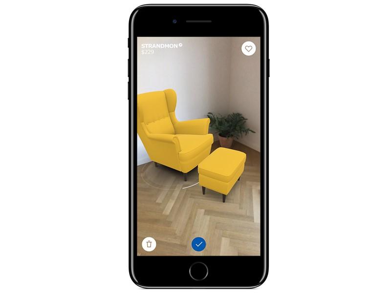 capture d'écran mobile fauteuil ikea réalité augmentée