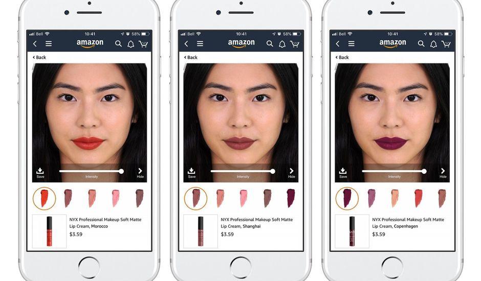 capture d'écran mobile rouge à lèvres amazon l'oréal