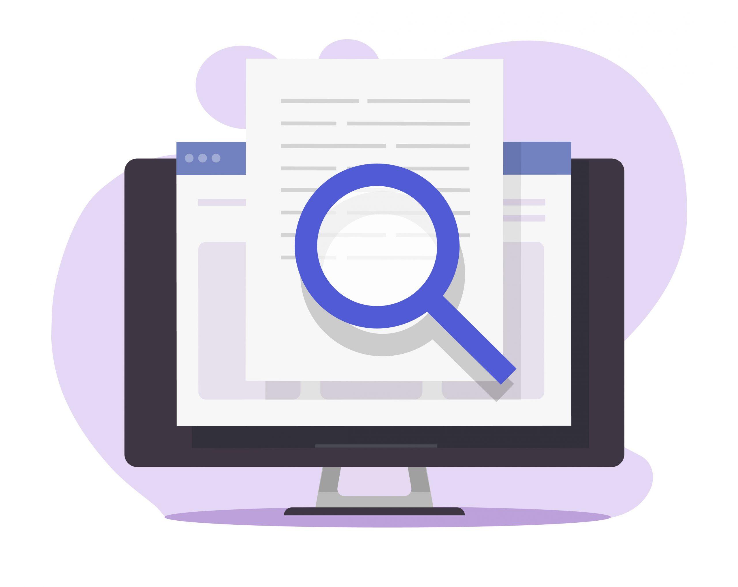 ordinateur et article