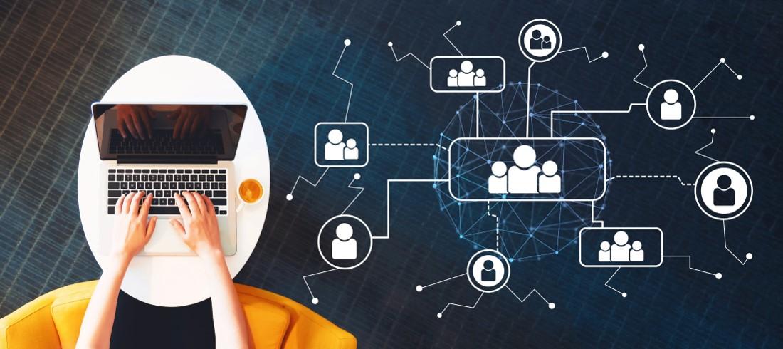illustration travail en réseau