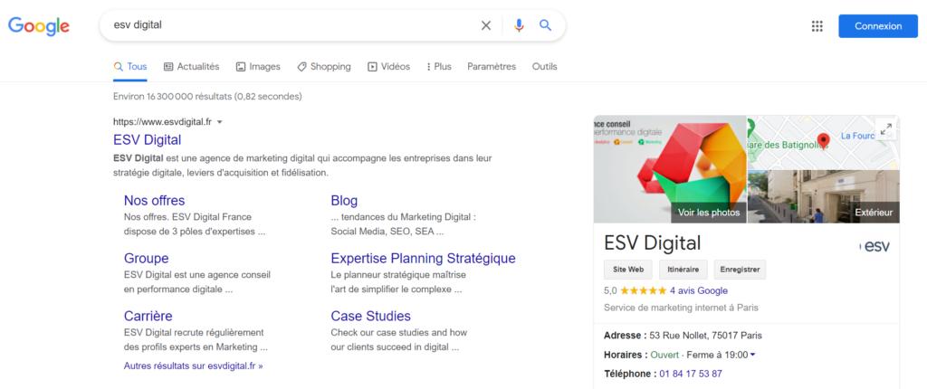 Google my business ESV Digital